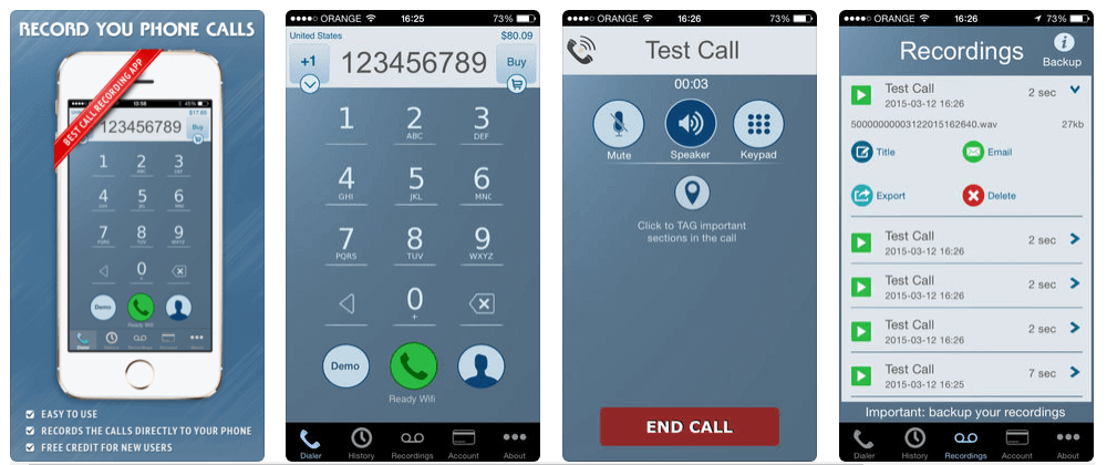 Free and Paid iPhone Call Recorder Apps