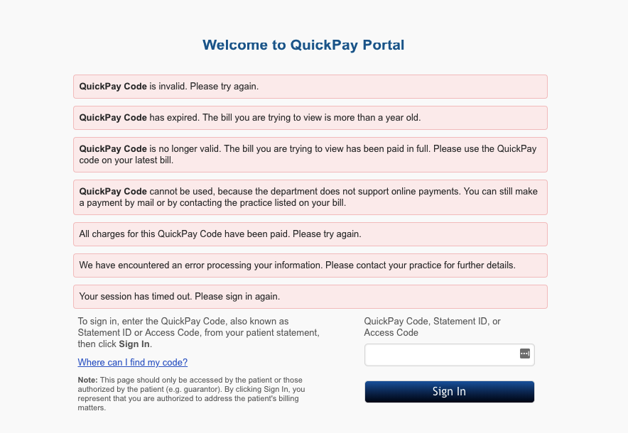 QuickpayPortal