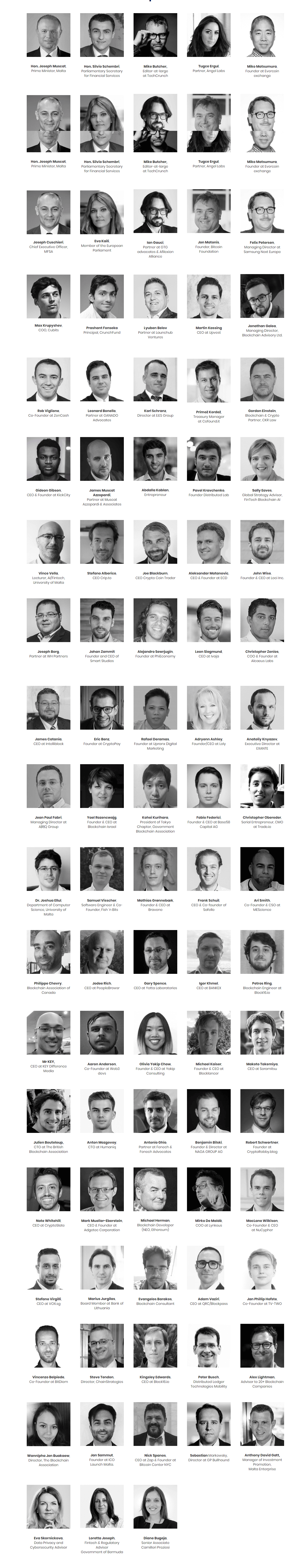 Malta BlockChain Summit Speakers 2018
